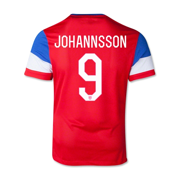 USA 14/15 JOHANNSSON Youth Away Soccer Jersey