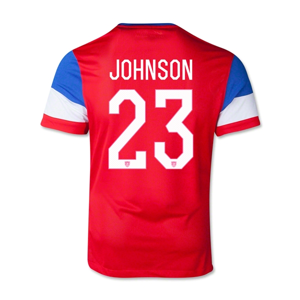 USA 2014 JOHNSON Youth Away Soccer Jersey