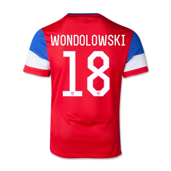 USA 2014 WONDOLOWSKI Youth Away Soccer Jersey