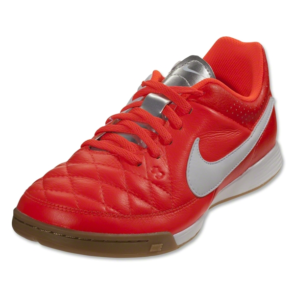 Nike Junior Tiempo Genio Leather IC (Total Crimson)