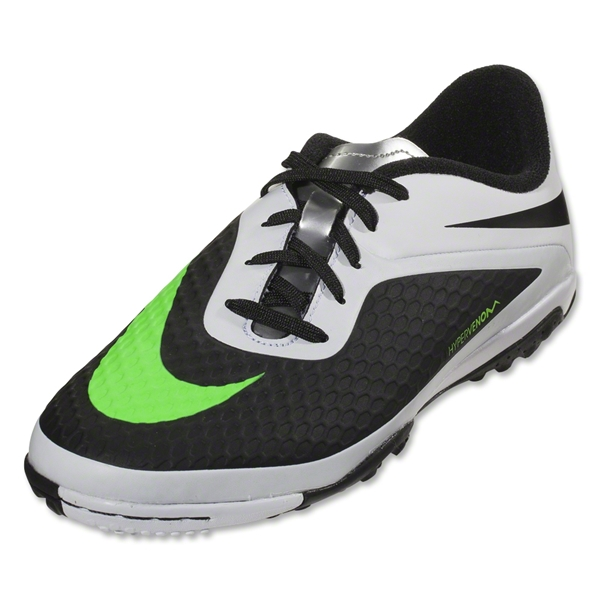 Nike Junior Hypervenom Phelon TF (Black/Neo Lime)