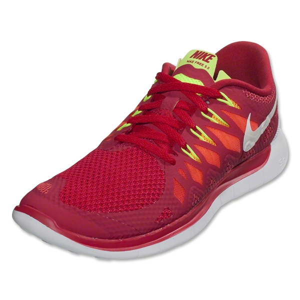 Nike Women's Free 5.0 Running Shoe (legion red/laser crimson/atomic mango/white)