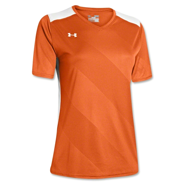 Under Armour Women's Fixture Jersey (Org/Wht)