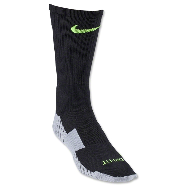 Nike Stadium Crew Sock (Black/Lime)