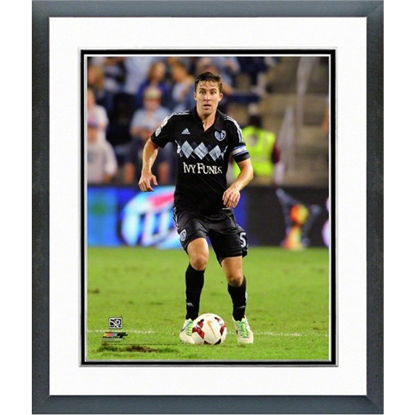 Sporting KC Matt Besler Action Shot Double Matted Framed Photo