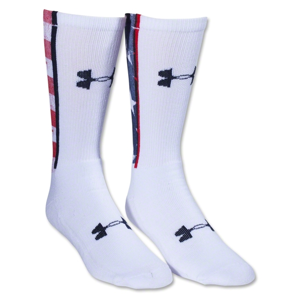 Under Armour Stars & Stripes Crew Sock (White)