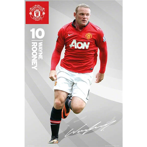 Manchester United 13/14 Rooney Poster