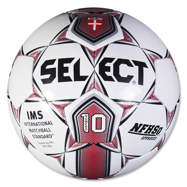 Select Numero 10 Ball (White/Red)