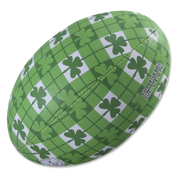 Gilbert St. Patrick's Day Clover Rugby Ball