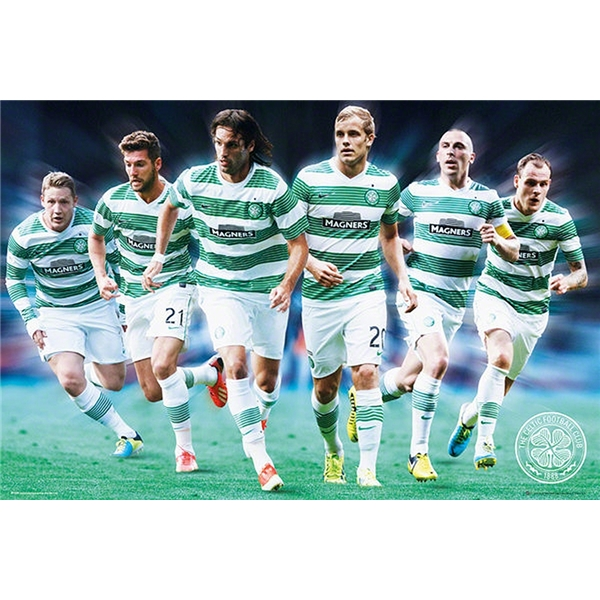 Celtic 13/14 Players Poster