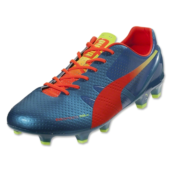 PUMA evoSPEED 1.2 SL FG (Sharks Blue/Fluo Peach/Fluo Yellow)