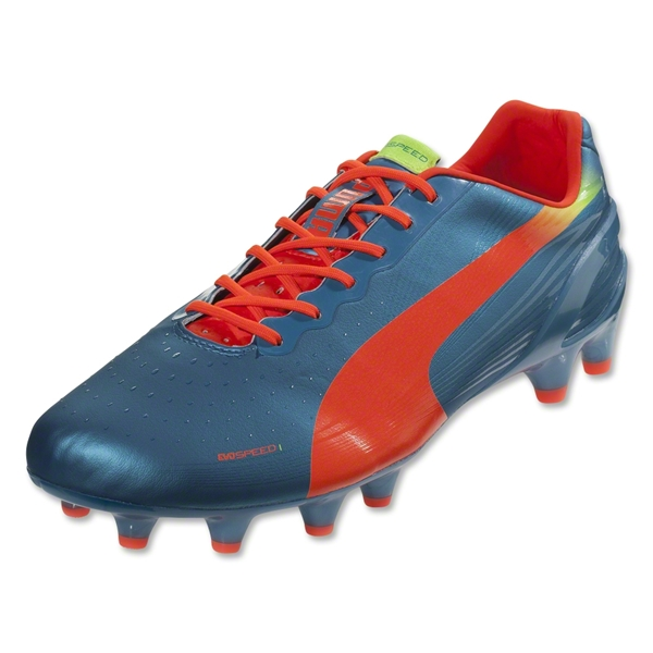 PUMA evoSPEED 1.2 FG (Sharks Blue/Fluo Peach/Fluo Yellow)