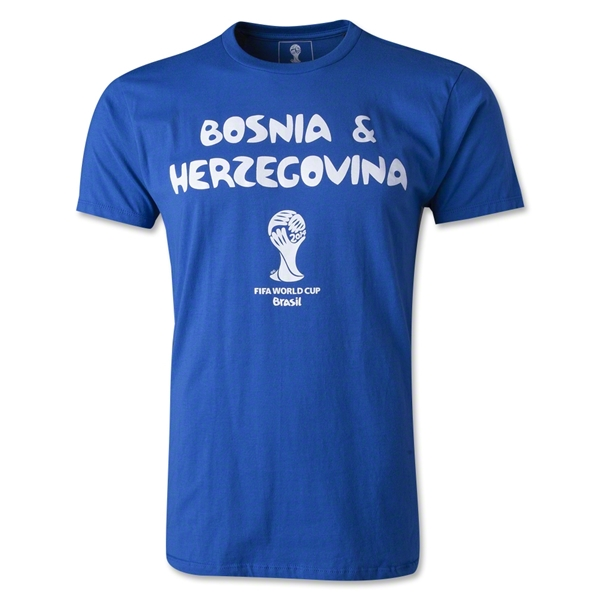 Bosnia-Herzegovina 2014 FIFA World Cup T-Shirt (Royal)