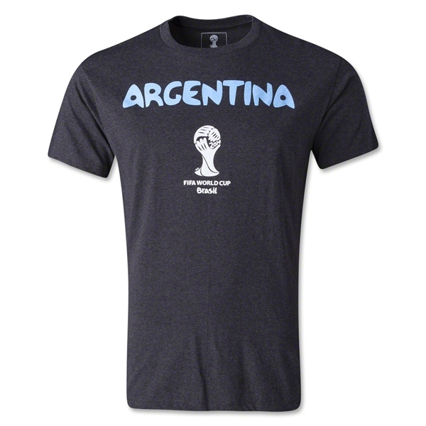 Argentina 2014 FIFA World Cup T-Shirt (Dark Gray)