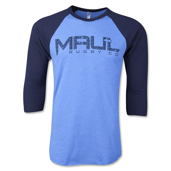 Maul Rugby Distressed Blue on Blue Raglan T-Shirt