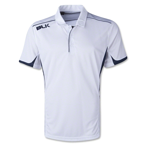 BLK Tek V Polo (White/Black)