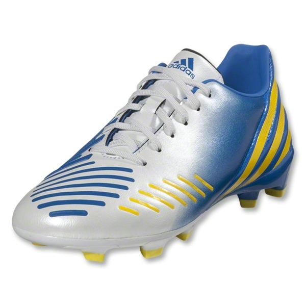 adidas Predator Absolado LZ TRX FG Junior (White/Prime Blue/Vivid Yellow)