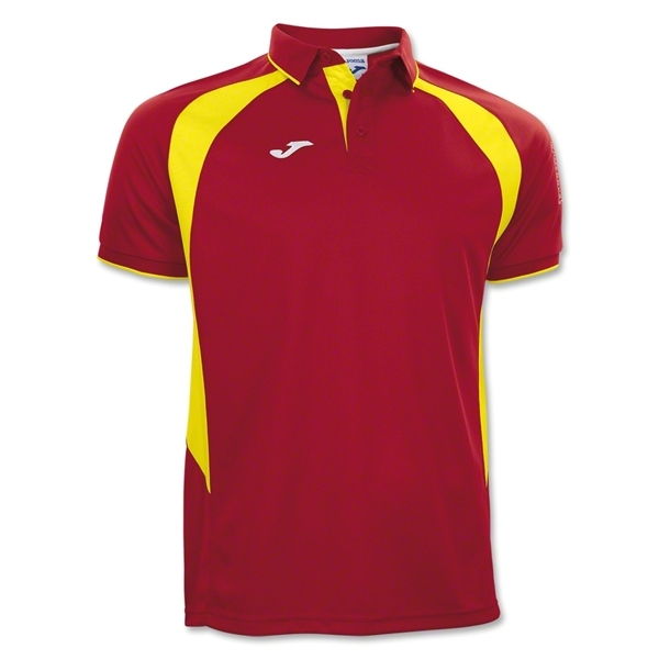 Joma Champion III Polo (Red/Yellow)