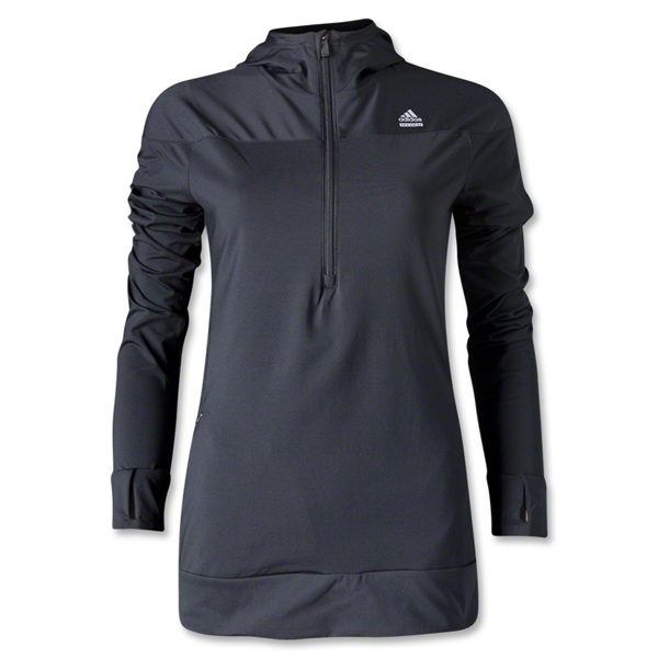 adidas Women's TechFit Cold Weather Half-Zip Hoody (Black)