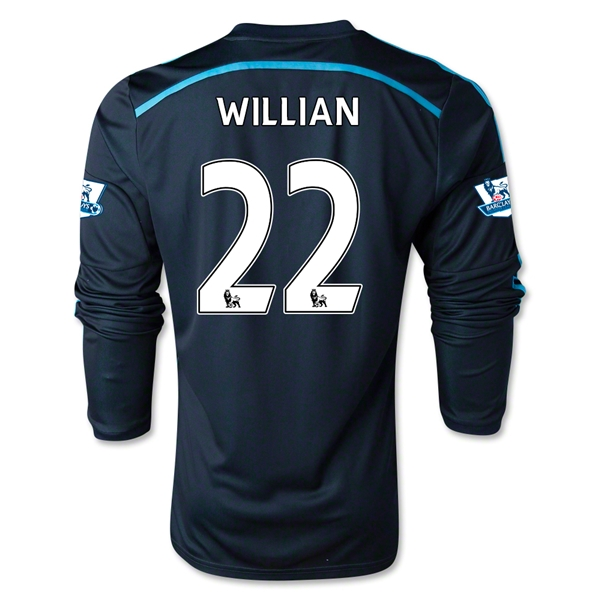 Chelsea 14/15 LS 22 WILLIAN Third Soccer Jersey