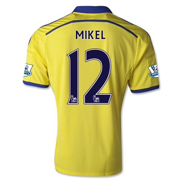 Chelsea 14/15 12 MIKEL Away Soccer Jersey