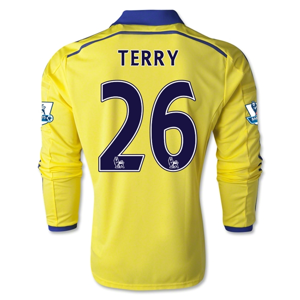 Chelsea 14/15 LS 26 TERRY Away Soccer Jersey