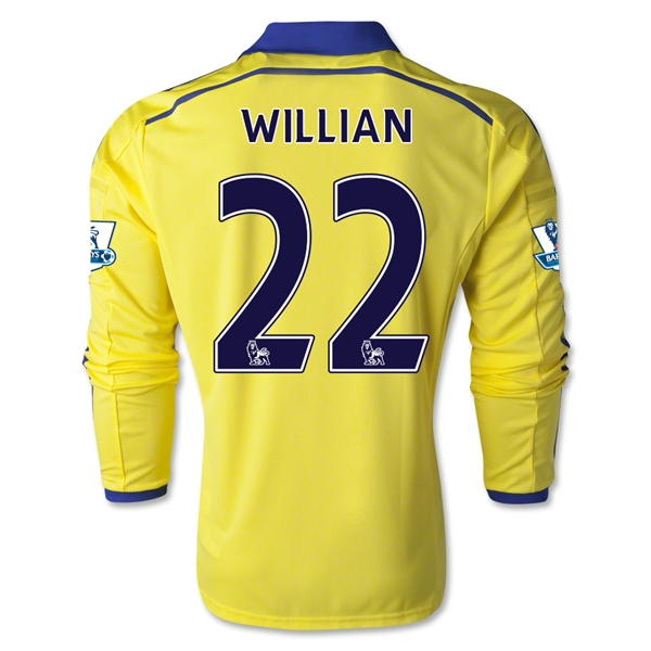 Chelsea 14/15 WILLIAN LS Away Soccer Jersey