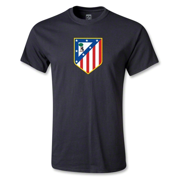 Atletico Madrid Crest T-Shirt (Black)