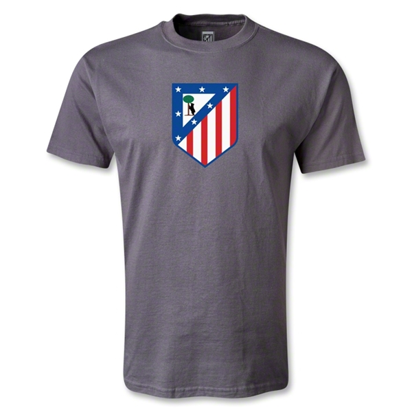 Atletico Madrid Crest T-Shirt (Dark Gray)