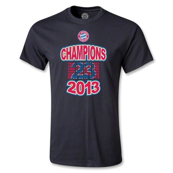 Bayern Munich 2013 Champion T-Shirt (Black)