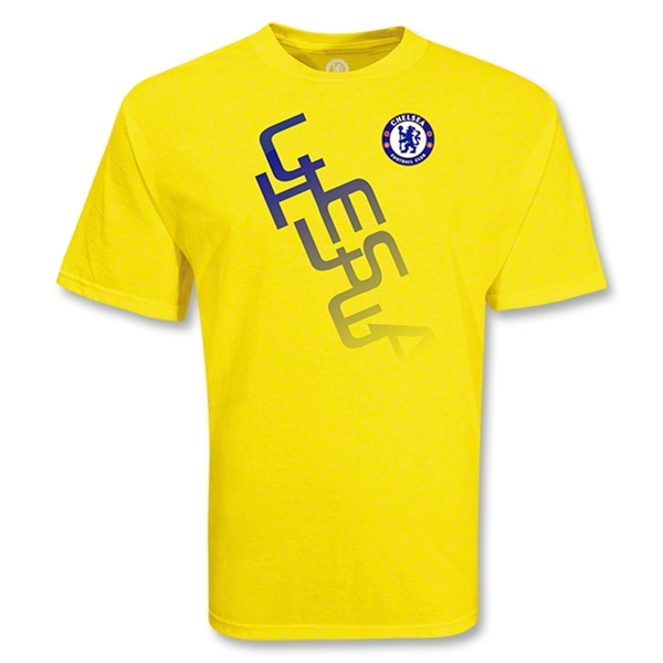 Chelsea Football Club Diagonal Soccer T-Shirt (Yellow)