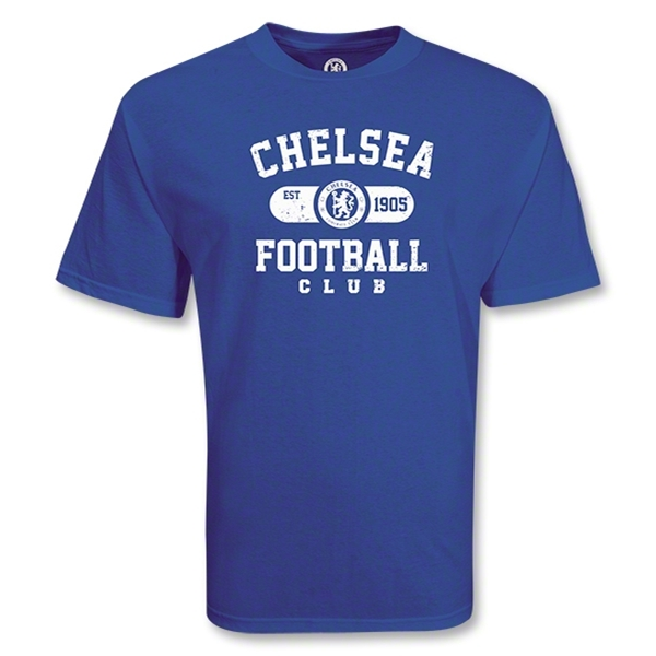 Chelsea Football Club Distressed Soccer T-Shirt (Royal)