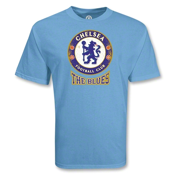 Chelsea Football Club The Blues Distressed Soccer T-Shirt (Sky)