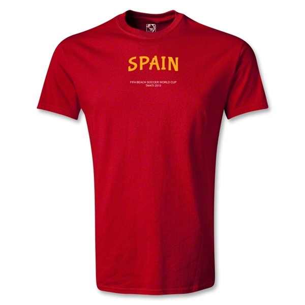 Spain FIFA Beach World Cup 2013 T-Shirt (Red)