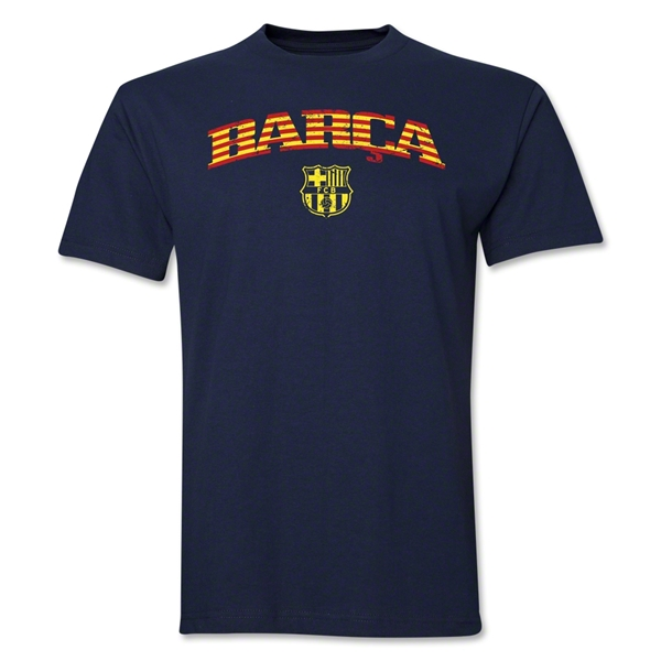 Barcelona Distressed Stripe T-Shirt (Navy)