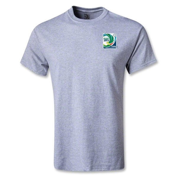 FIFA Confederations Cup 2013 Small Emblem T-Shirt (Gray)