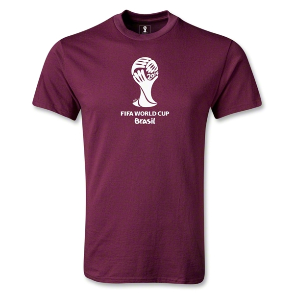 2014 FIFA World Cup Brazil(TM) Emblem T-Shirt (Maroon)