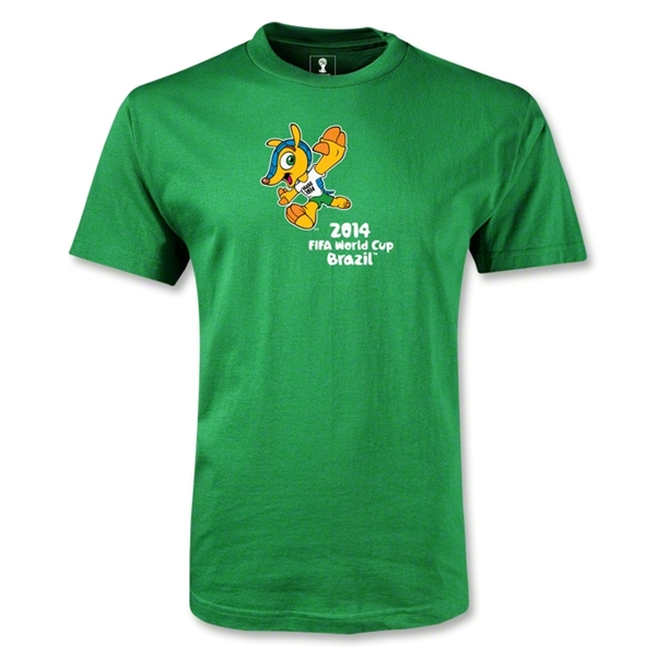 2014 FIFA World Cup Brazil(TM) Mascot Celebrating T-Shirt (Green)