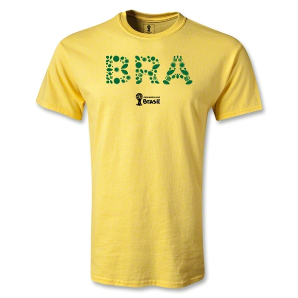 Brazil 2014 FIFA World Cup Brazil(TM) Elements T-Shirt (Yellow)