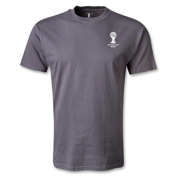 2014 FIFA World Cup Brazil(TM) Men's Emblem T-Shirt (Dark Grey)