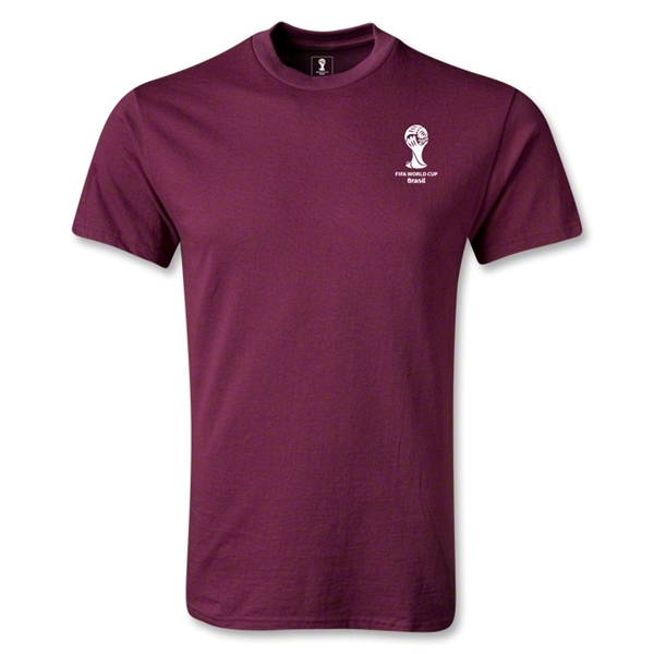 2014 FIFA World Cup Brazil(TM) Men's Emblem T-Shirt (Maroon)