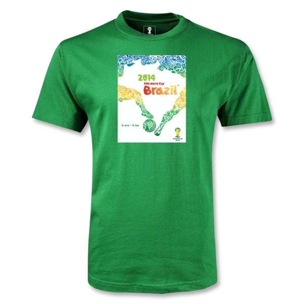 2014 FIFA World Cup Brazil(TM) Official Event Poster T-Shirt (Green)