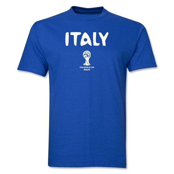 Italy 2014 FIFA World Cup Brazil(TM) Men's Basic Core T-Shirt (Royal)
