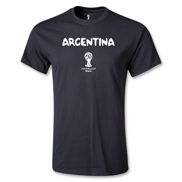 Argentina 2014 FIFA World Cup Brazil(TM) Men's Basic Core T-Shirt (Black)