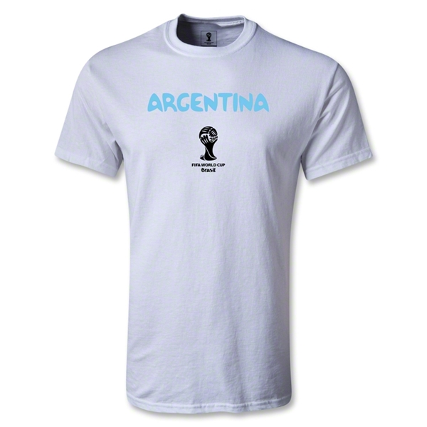 Argentina 2014 FIFA World Cup Brazil(TM) Men's Basic Core T-Shirt (White)
