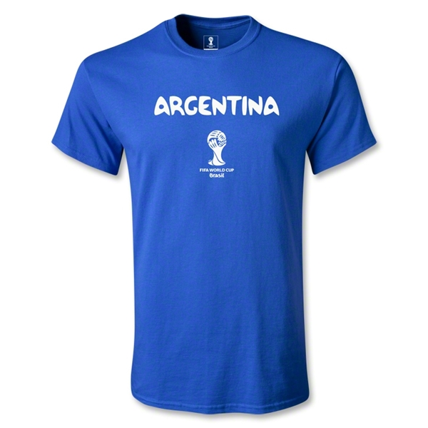 Argentina 2014 FIFA World Cup Brazil(TM) Men's Basic Core T-Shirt (Royal)