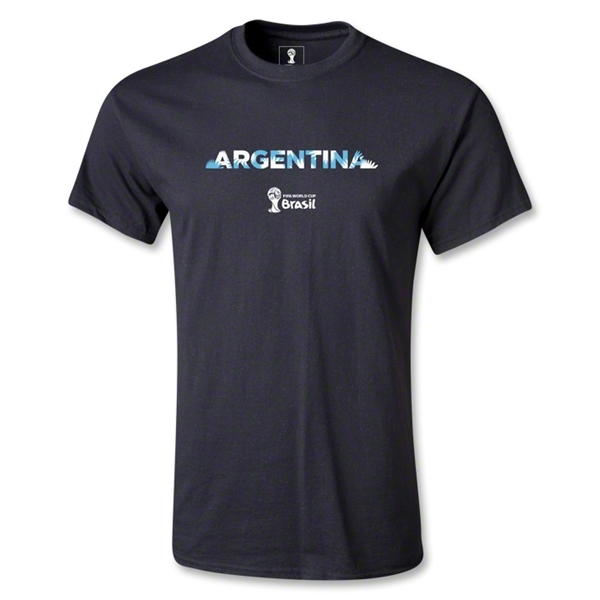 Argentina 2014 FIFA World Cup Brazil(TM) Palm T-Shirt (Black)