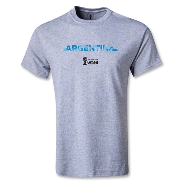 Argentina 2014 FIFA World Cup Brazil(TM) Palm T-Shirt (Gray)