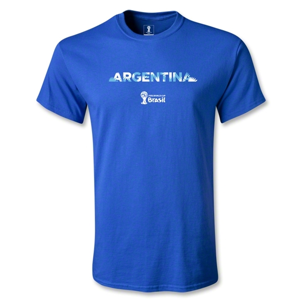 Argentina 2014 FIFA World Cup Brazil(TM) Palm T-Shirt (Royal)