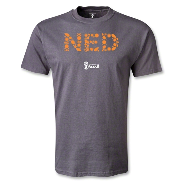 Netherlands 2014 FIFA World Cup Brazil(TM) Elements T-Shirt (Dark Gray)